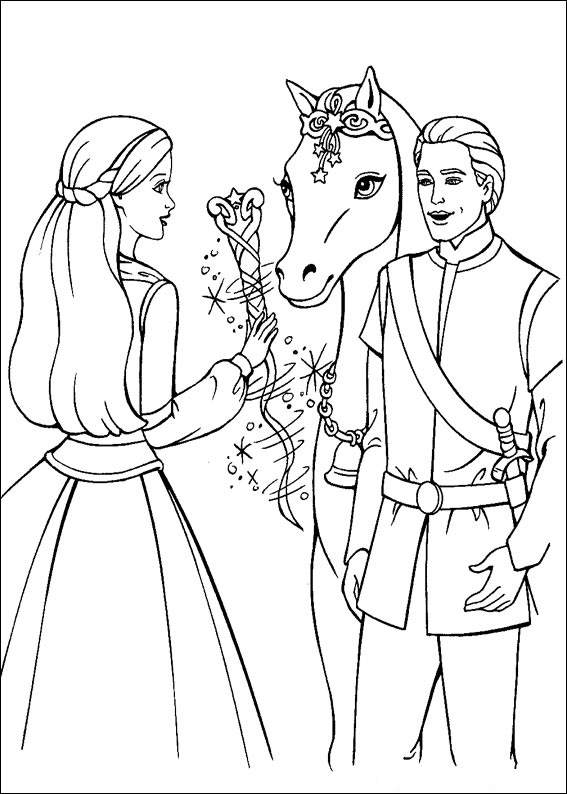 Barbie and The Magic Pegasus Coloring Picture 1