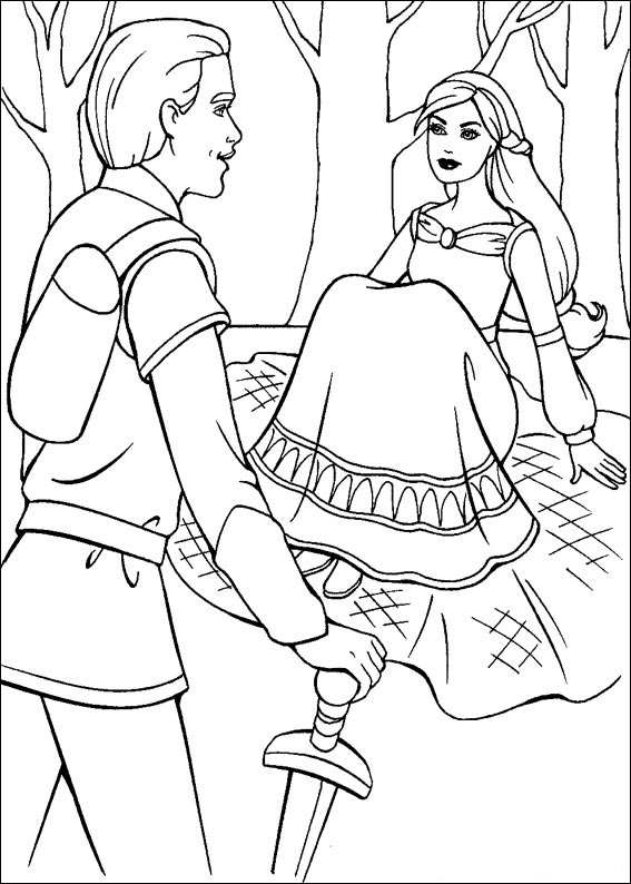 Barbie and The Magic Pegasus Coloring Picture 10