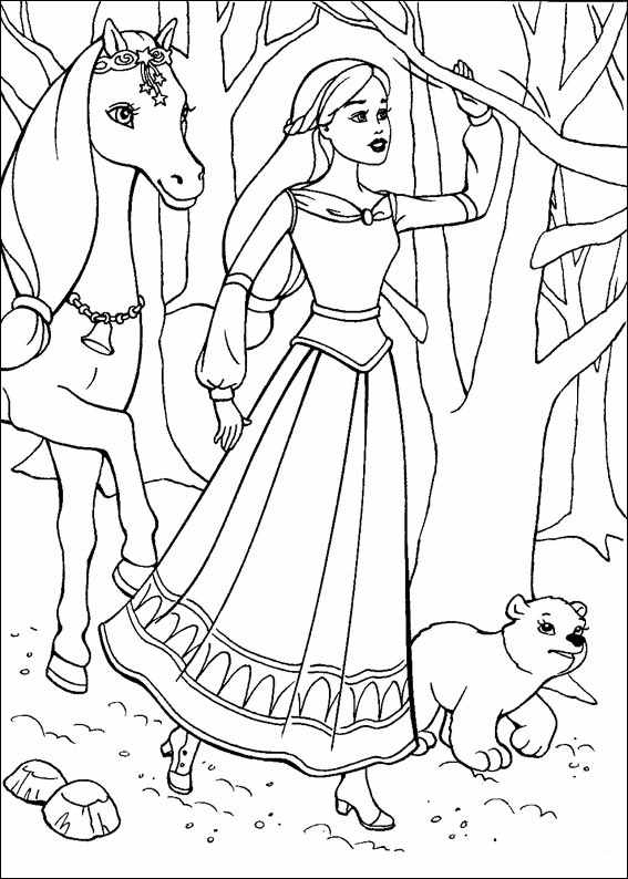 Barbie and The Magic Pegasus Coloring Picture 11