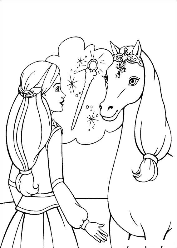 Barbie and The Magic Pegasus Coloring Picture 12