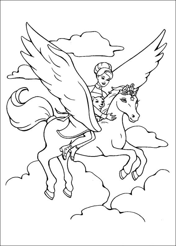 Barbie and The Magic Pegasus Coloring Picture 14