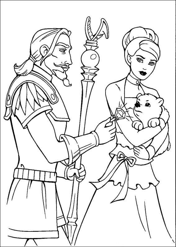 Barbie and The Magic Pegasus Coloring Picture 15