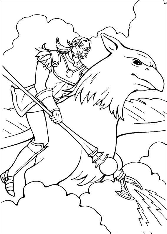 Barbie and The Magic Pegasus Coloring Picture 2