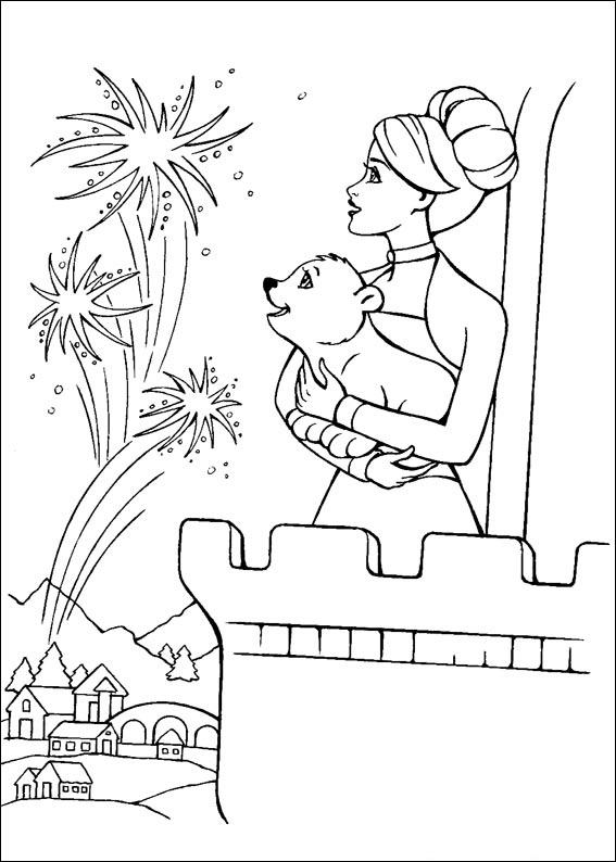 Barbie and The Magic Pegasus Coloring Picture 3