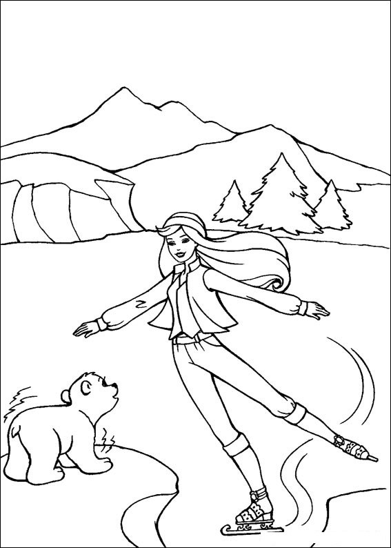 Barbie and The Magic Pegasus Coloring Picture 7