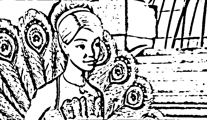 barbie as the island princess coloring picture