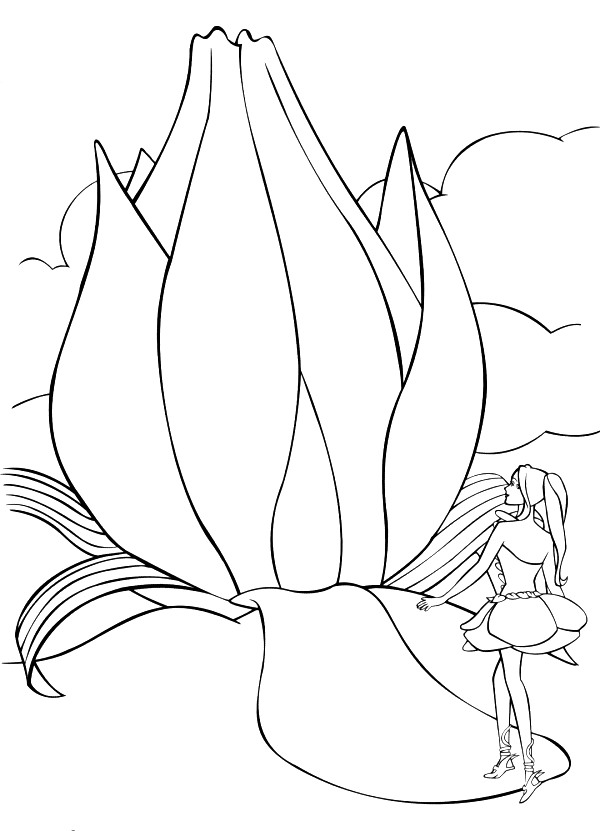 Barbie Fairytopia Coloring Picture 10