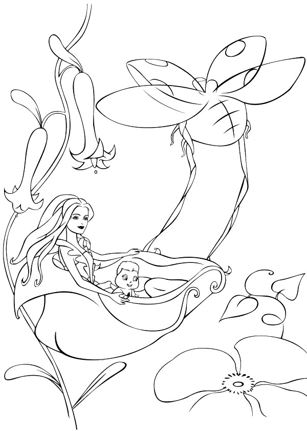 Barbie Fairytopia Coloring Picture 12