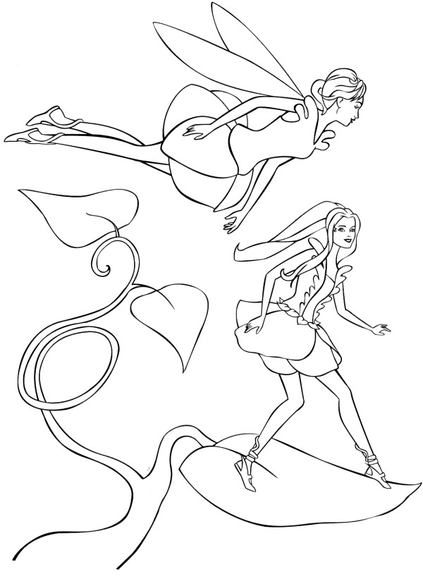 Barbie Fairytopia Coloring Picture 2