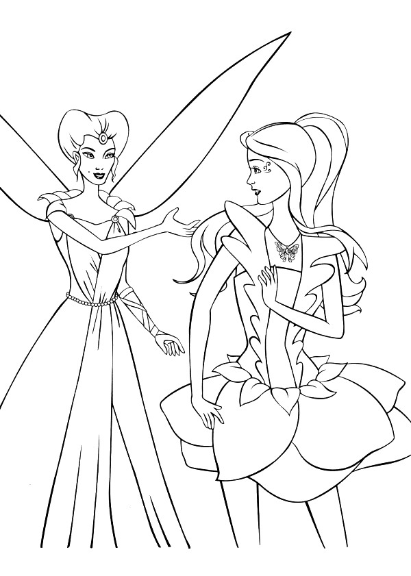 Barbie Fairytopia Coloring Picture 5