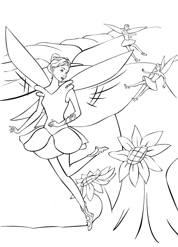 Barbie Fairytopia Coloring Picture 9