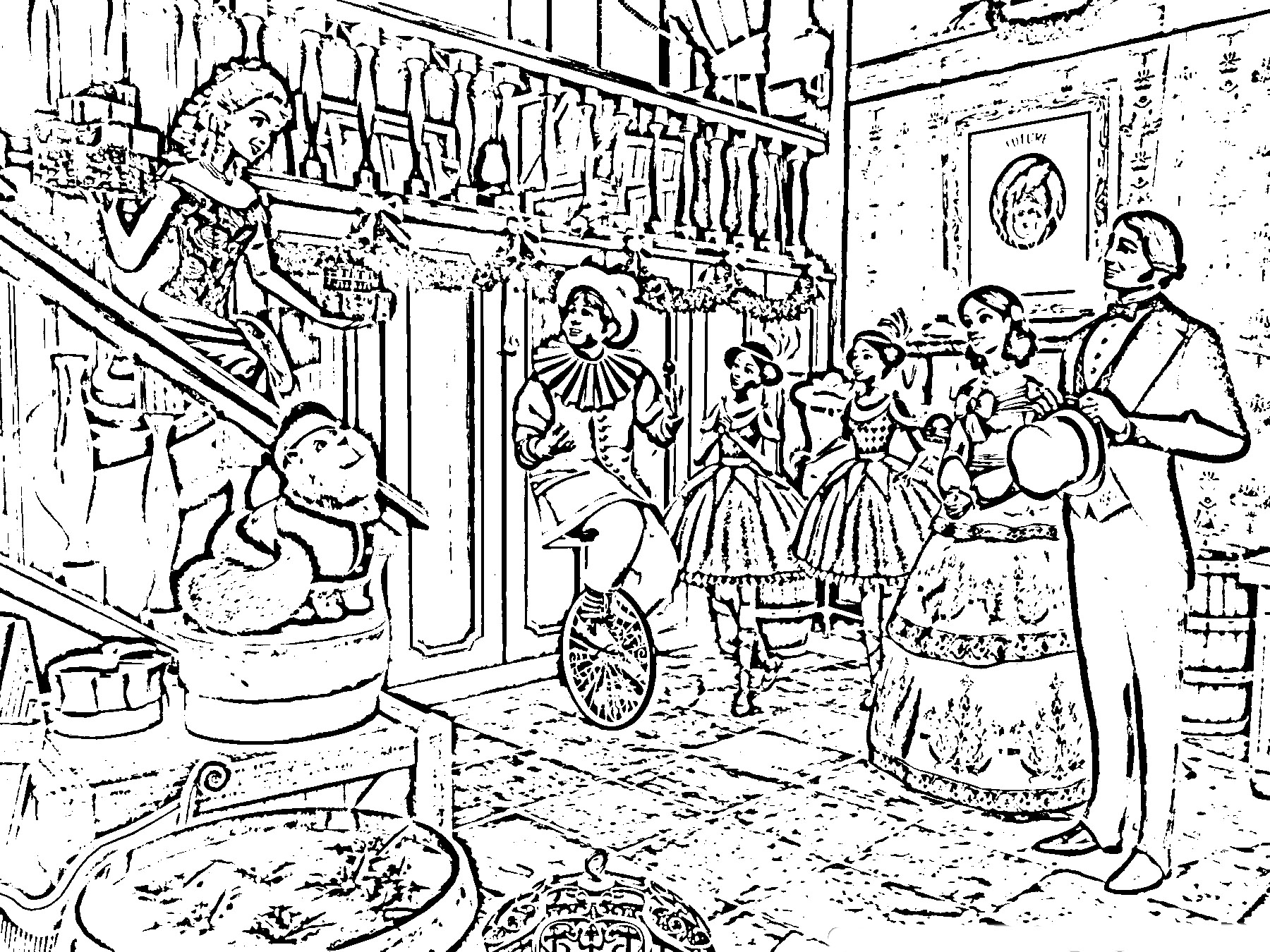 barbie in a christmas carol coloring picture