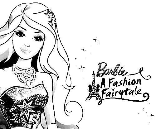 Barbie in a Fashion Fairytale Coloring Picture 1