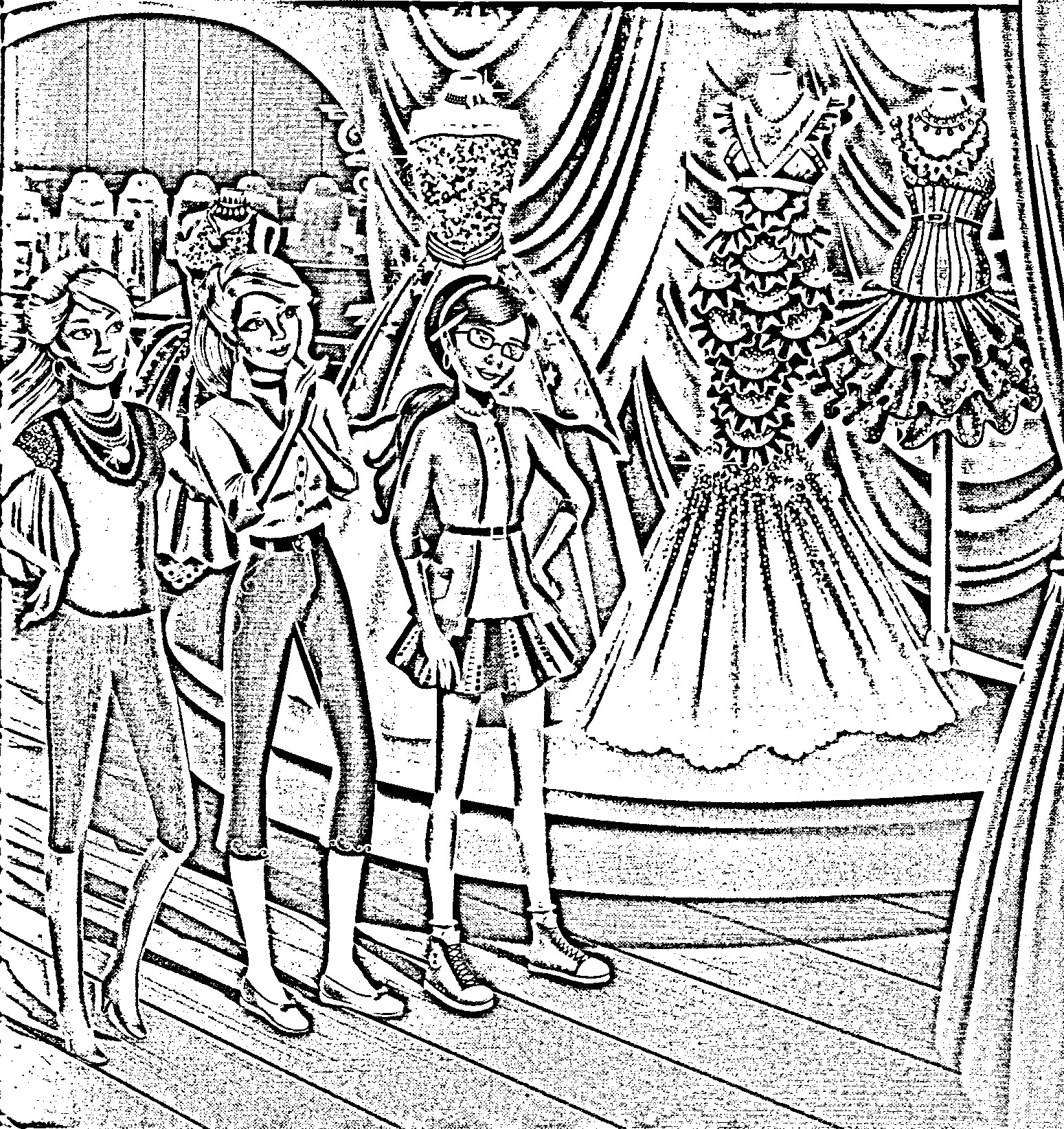 Barbie in a Fashion Fairytale Coloring Picture 9