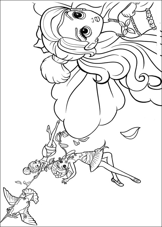 Barbie Thumbelina Coloring Picture 1