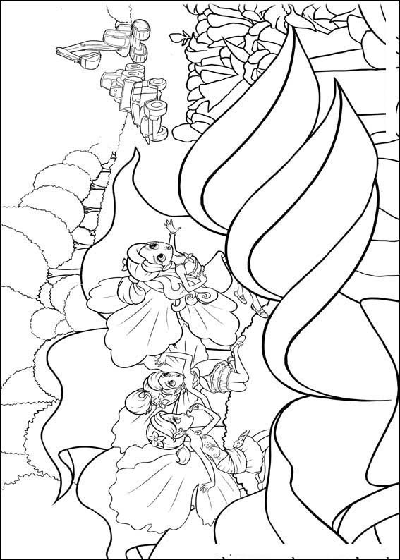 Barbie Thumbelina Coloring Picture 12