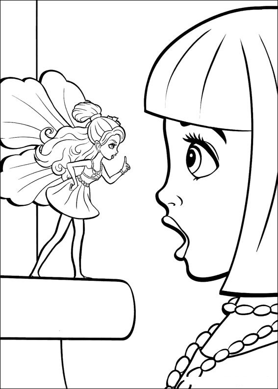 Barbie Thumbelina Coloring Picture 2