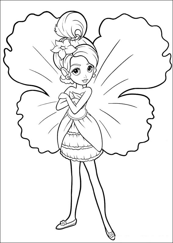 Barbie Thumbelina Coloring Picture 4