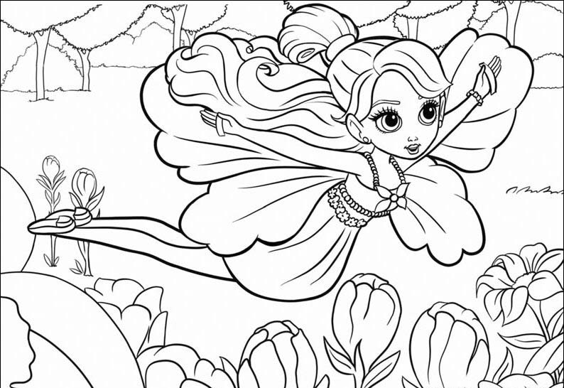 Barbie Thumbelina Coloring Picture 7