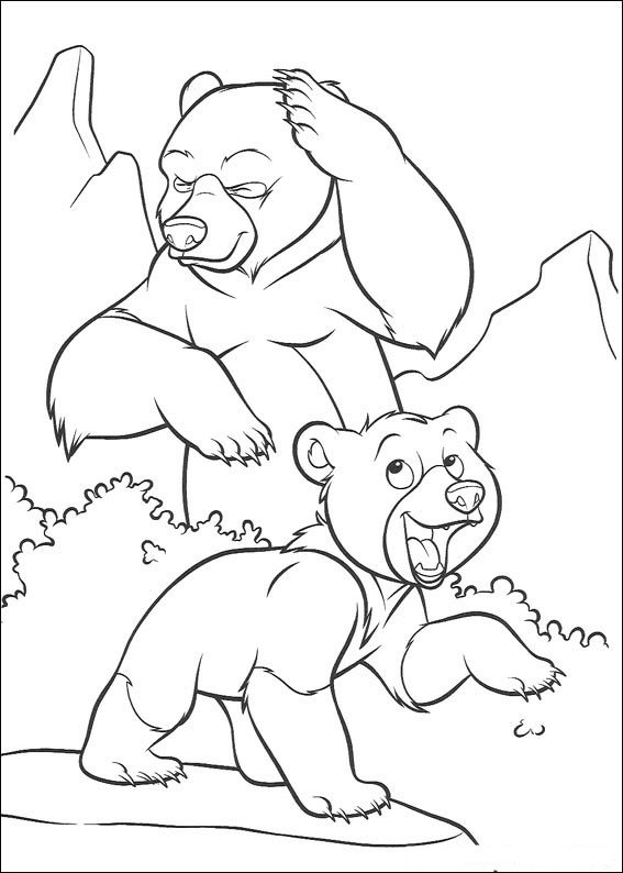 Brother Bear Coloring Picture 3