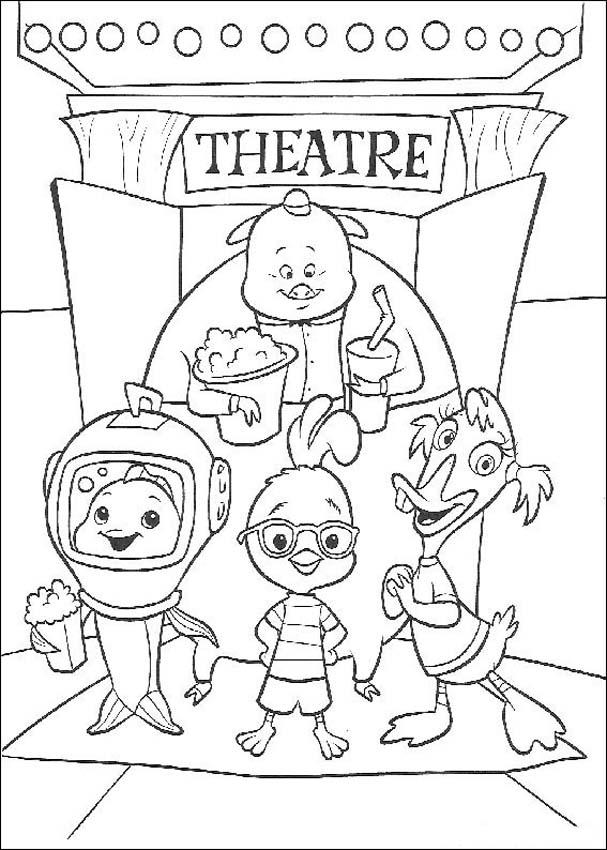 Chicken Little Coloring Picture 4
