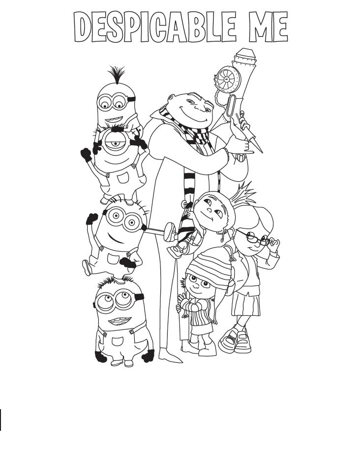 Despicable Me Coloring Picture 6