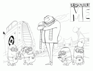 Despicable Me Coloring Picture 7