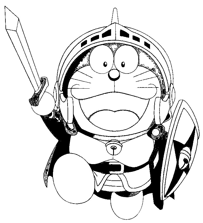 Doraemon Coloring Picture 10