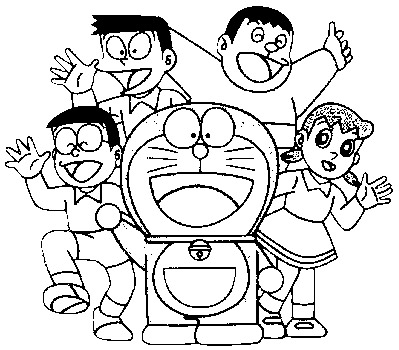 Doraemon Coloring Picture 11