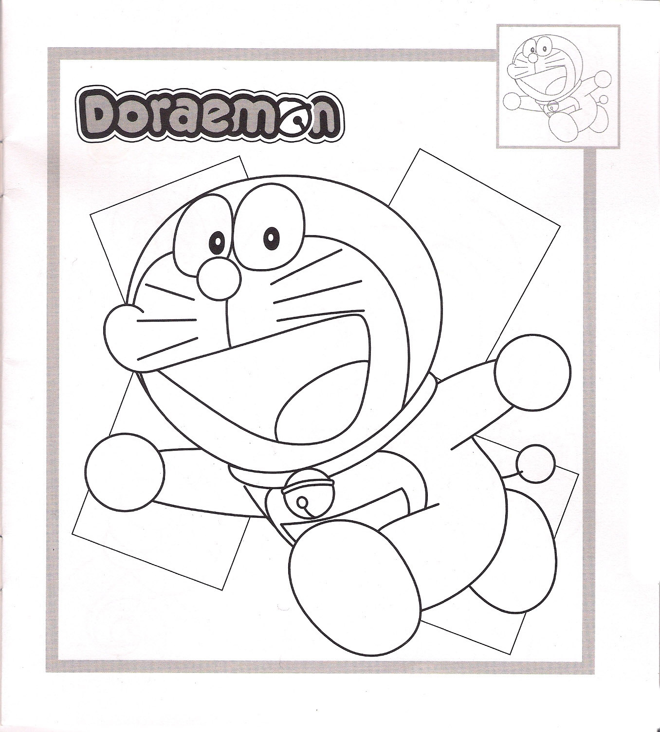 Doraemon Coloring Picture 12