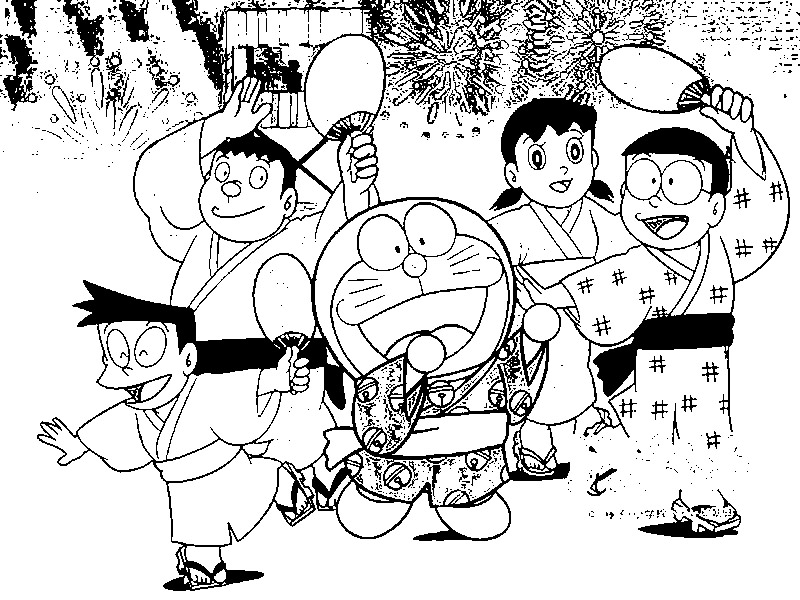 Doraemon Coloring Picture 3