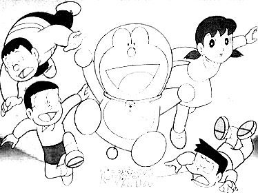 Doraemon Coloring Picture 9