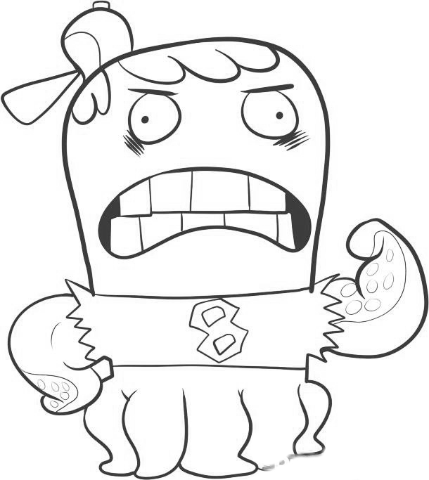 Fish Hooks Coloring Picture 10