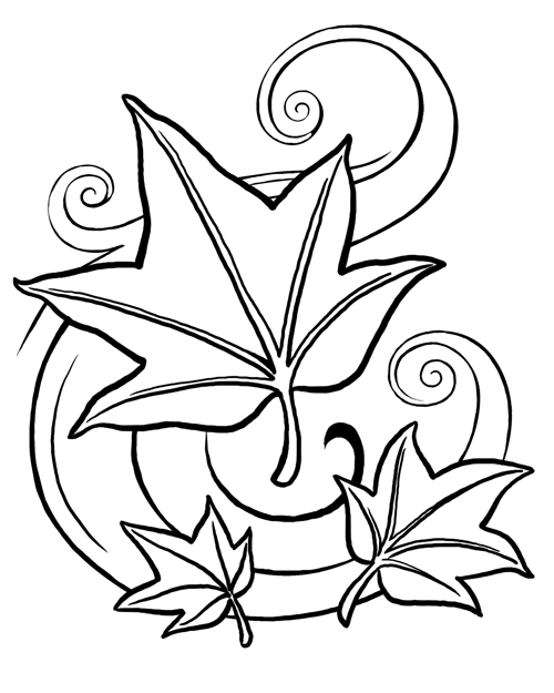 Flower Coloring Picture 4