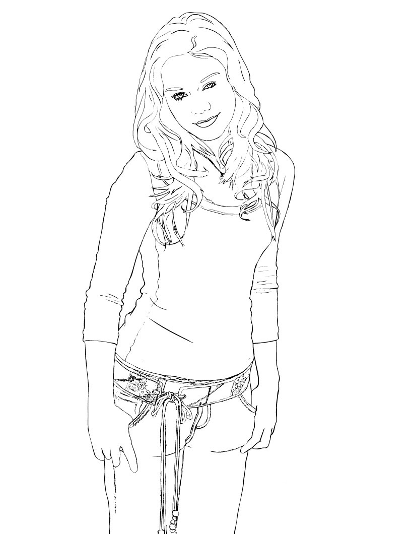 Hannah Montana Coloring Picture 2