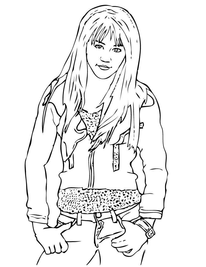 Hannah Montana Coloring Picture 3