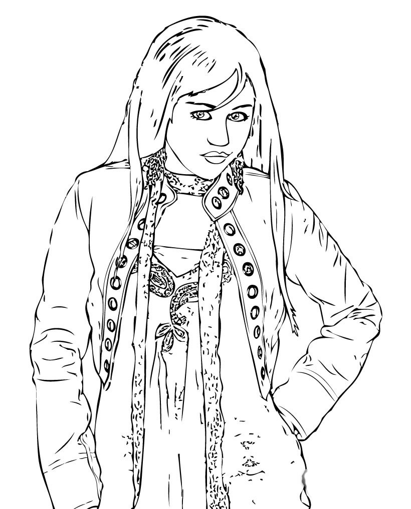Hannah Montana Coloring Picture 4