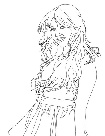 Hannah Montana Coloring Picture 5