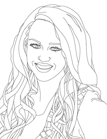 Hannah Montana Coloring Picture 6