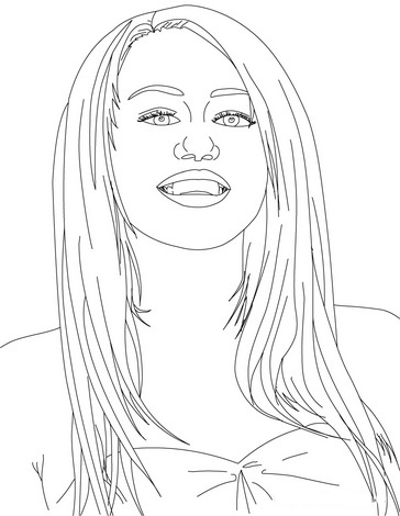 Hannah Montana Coloring Picture 9