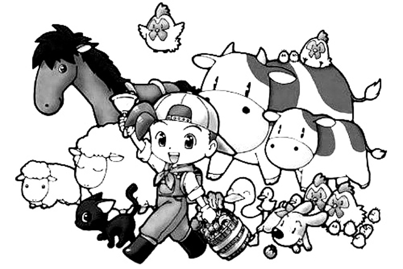 Harvest Moon Coloring Picture 1