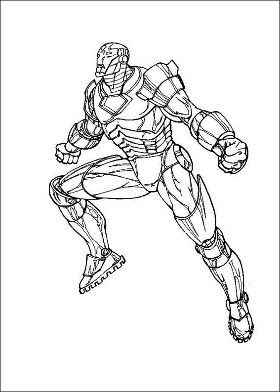 Iron Man Coloring Picture 10