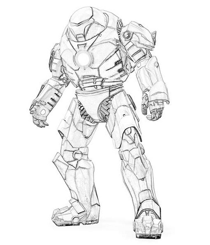 Iron Man Coloring Picture 11