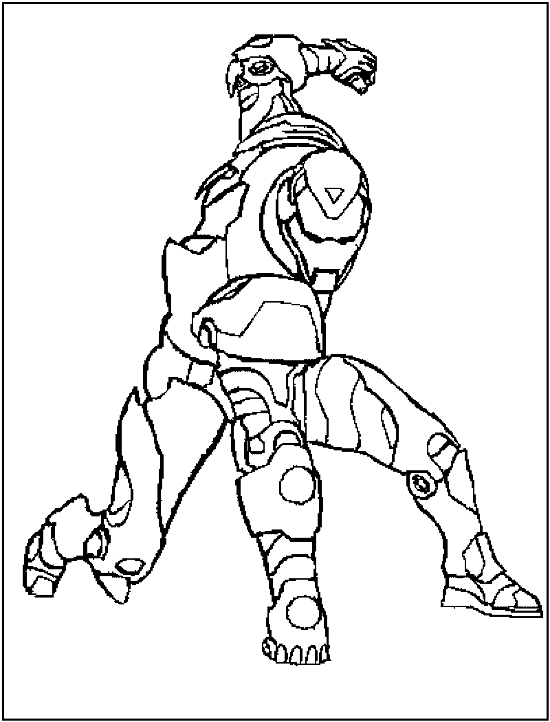 Iron Man Coloring Picture 12