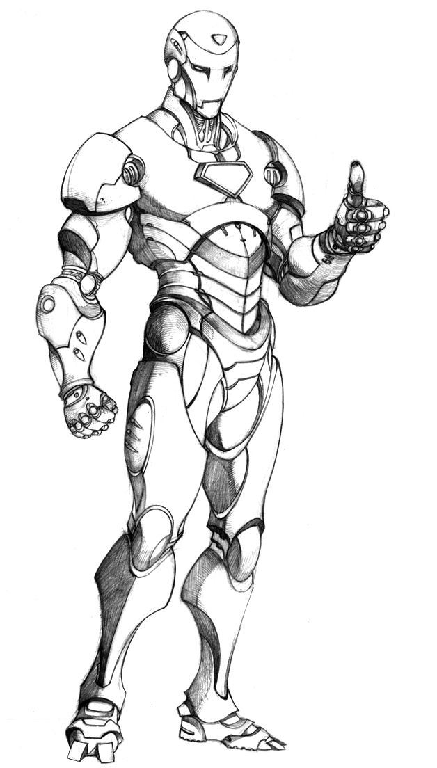 iron man coloring picture 2