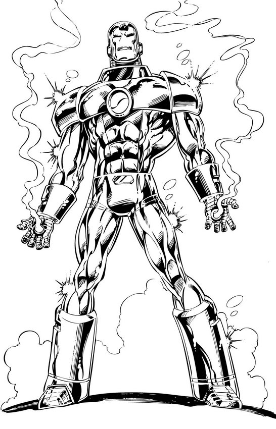 Iron Man Coloring Picture 4