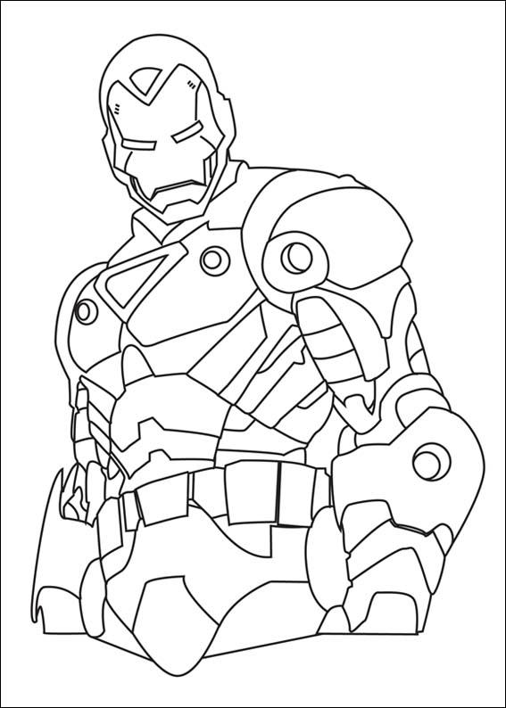 Iron Man Coloring Picture 6