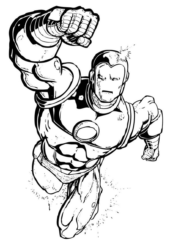 Iron Man Coloring Picture 7