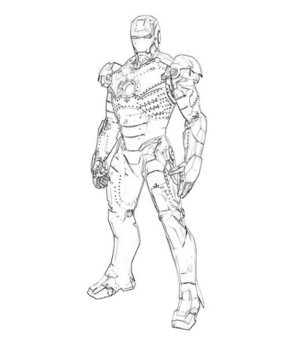 Iron Man Coloring Picture 8