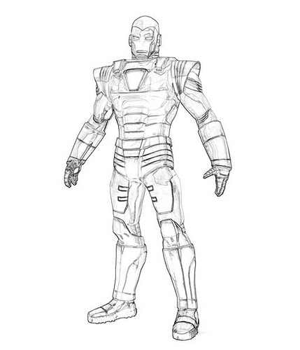 Iron Man Coloring Picture 9